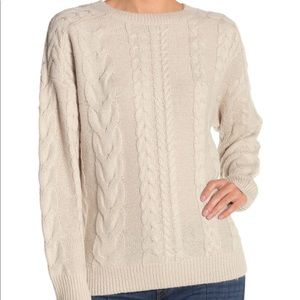Michael stars cable knit sweater stone/silver